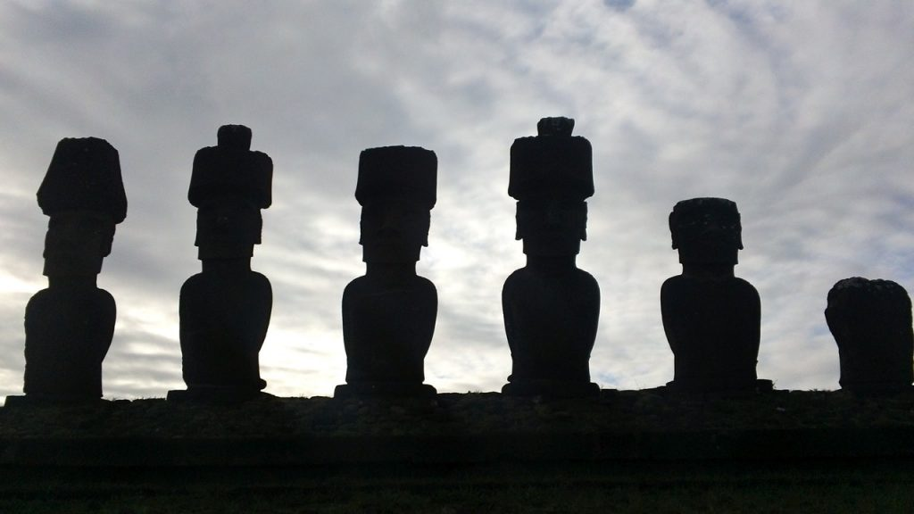easter island heads damaged by tourists